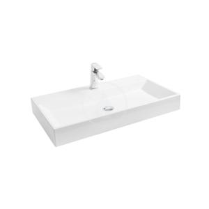 RAVAK - Natural Umývadlo 800 mm x 450 mm, bez prepadu s otvorom, biela (XJO01280000)