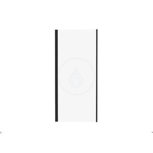 RAVAK - Pivot Sprchová stena PPS-90, 870-895 mm, čierna/číre sklo (90G70300Z1)
