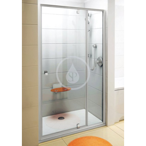 RAVAK - Pivot Sprchové dveře otočné pivotové dvoudílné PDOP2 - 110, 1061-1111 mm, Sprchové dvere otočné pivotové dvojdielne PDOP2-110, 1061 mm – 1111 mm – farba biela/biela, sklo transparent (03GD0101Z1)