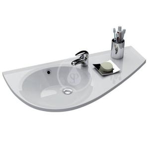 RAVAK RAVAK - Avocado Jednootvorové umyvadlo, 850 x 450 mm, bílé, Jednootvorové umývadlo, 850 mmx450 mm, biele – umývadlo, s odkladacou plochou vpravo (XJ1P1100000)