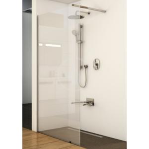 RAVAK - Walk-In Sprchový kout Wall, 1000 x 2000 mm, barva lesklý hliník, sklo transparent (GW9WA0C00Z1)