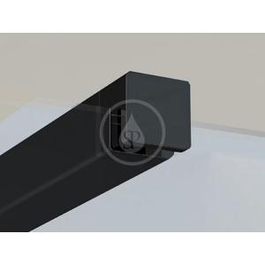RAVAK - Walk-In W SET-90 Wall/Corner - vzpera ,čierna (GWD010003018)