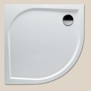 RIHO Kolping sprchová vanička 90čtvrtkruh sifon, bílá litý mramor R550 DB1400500000000 (DB1400500000000)