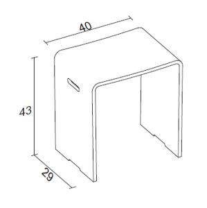 RIHO SEDÁK Solid Surface 43x40x29cm bílý AS03005 (AS03005)