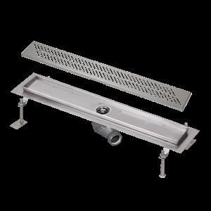 Sanela SLKN 04DX Nerezový koupelnový žlábek do prostoru, délka 950 mm, matný (SL 68044)