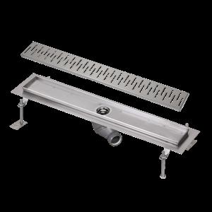 Sanela SLKN 05CX Nerezový koupelnový žlábek do prostoru, délka 1150 mm, matný (SL 68053)