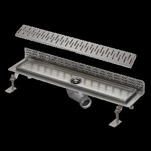 Sanela SLKN 08CX Nerezový koupelnový žlábek ke stěně, délka 1150 mm, matný (SL 68083)