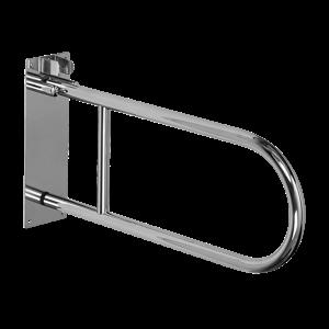 Sanela SLZM 03SDX Nerezové madlo sklopné, délka 830 mm, povrch matný (SL 49037)