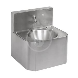 SANELA - Nerezová umyvadla Závesné umývadlo z nehrdzavejúcej ocele so systémom piezo a s termostatickým ventilom, 6 V (SLUN 72PTB)