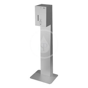 SANELA - Nerezové dávkovače Automatický stojící dávkovač dezinfekce, objem 5 l, bateriové napájení, matná nerez (SLZN 59ESB)
