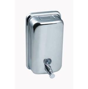 SANELA - Nerezové doplňky Dávkovač tekutého mydla z nehrdzavejúcej ocele, obsah 1,25 l (SLZN 05)