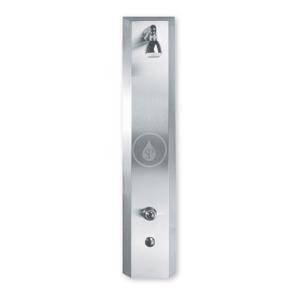 SANELA - Nerezové sprchové panely Nerezový sprchový panel s integrovaným senzorem a termostatickým ventilem pro bateriové napájení - 2 vody (SLSN 02ETB)
