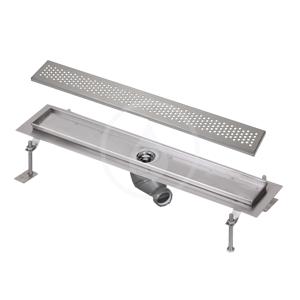 SANELA - Nerezové žlaby Kúpeľňový žliabok z nehrdzavejúcej ocele do priestoru, dĺžka 1150 mm, mat SLKN 05BX
