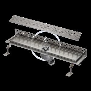 SANELA - Nerezové žlaby Nerezový koupelnový žlábek ke stěně, délka 1150 mm, lesk (SLKN 08BX)