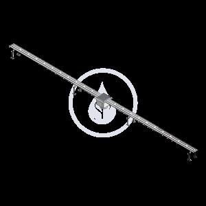 SANELA - Nerezové žlaby Nerezový štěrbinový žlábek 316L, délka 2 m (SLKN 01L)