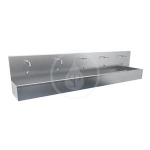 SANELA SANELA - Nerezové dřezy Závesný žľab z nehrdzavejúcej ocele, dĺžka 1900 mm, tri integrované elektroniky, matný (SLUN 81E)