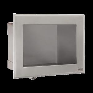 SANELA Sanela SLUN 75E Nerezové zápustné automatické umyvadlo s integrovaným spouštěním vody pro jednotrubkový přívod studené nebo tepelně upravené vody, 24V DC, montáž přes závitové tyče, povrch matný (SL 93751)