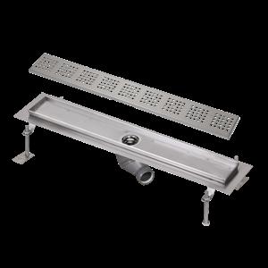 Sanela SLKN 17FX Nerezový koupelnový žlábek do prostoru, délka 850 mm, matný (SL 68176)
