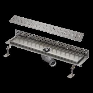 Sanela SLKN 18E Nerezový koupelnový žlábek ke stěně, délka 850 mm, lesklý (SL 69185)