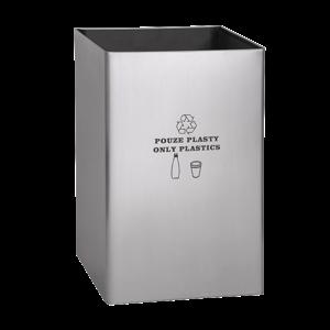 Sanela SLZN 49AA Nerezový koš, objem 67 l, popis POUZE PLASTY/PLASTICS ONLY (SL 85490)
