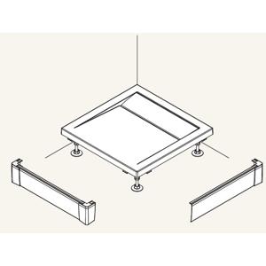 SanSwiss ILA Hliníkový panel pro obdél. vaničku -L panel ,1200/900/95,04-bílá (PWIL09012004)