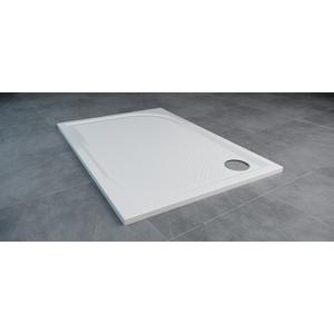SanSwiss MARBLEMATE sprchová vanička bílá,obdélník 160x80x3 cm,1600/800/30, (WMA8016004)