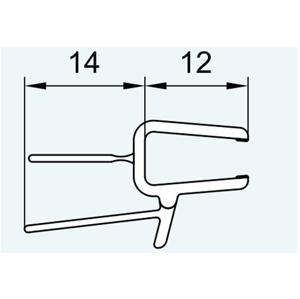 SanSwiss ND. těsnění s okapničkou(52203)pro 5-6mm sklo, 100cm 52203.KD.1000 (52203.KD.1000)