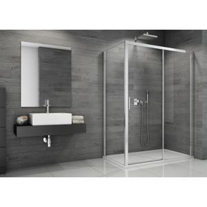 Sanswiss set TBFS2D+TOPF dveře a pevná stěna 1200 x 900mm ALU/sklo čiré A07 s vaničkou a sifonem (TBFS2DS120905007)