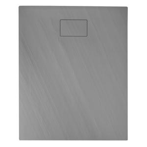 SAPHO - ACORA sprchová vanička,litý mramor,obdĺžnik 120x90x3,5cm,šedá,dekor kameň (AC025)