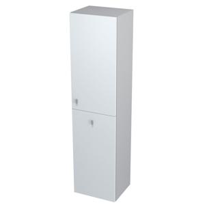 SAPHO - AILA skrinka vysoká s košom 35x140x30cm, pravá, biela/strieborná (55674)