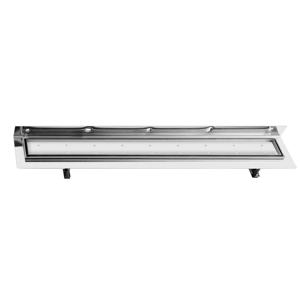 SAPHO - CORNER 87 nerezový sprchový kanálik s roštom pre dlažbu, k stene 870x130x82 mm (FP521)