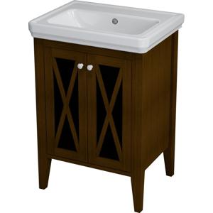 SAPHO - CROSS umývadlová skrinka 55x81x43cm, mahagon (CR060)