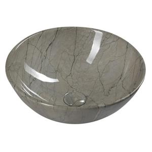 SAPHO - DALMA keramické umývadlo 58,5x39x14, sivý mramor (MM113)