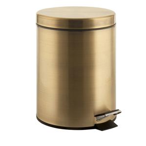 SAPHO - DIAMOND kôš na odpadky guľatý, 3l, bronz (2609)