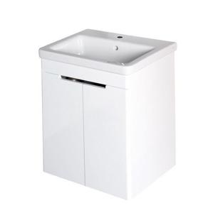 SAPHO - ELLA umývadlová skrinka 56,5x65x43cm, 2xdvierka,biela (70065)