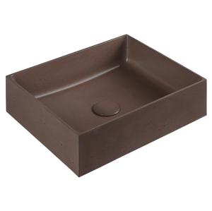 SAPHO - FORMIGO betónové umývadlo, 47,5x13x36,5 cm, tehlová (FG012)
