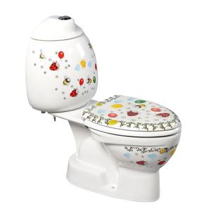 SAPHO - KID detské WC kombi vr.nádržky, spodný odpad, farebná potlač (CK301.400.0F)
