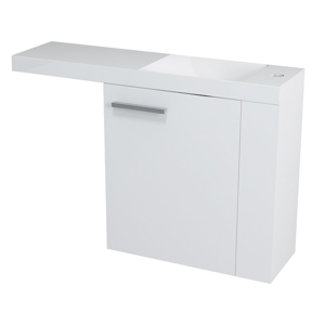 SAPHO - LATUS VI umývadlová skrinka 50x50x22cm, pravá, biela (55830)