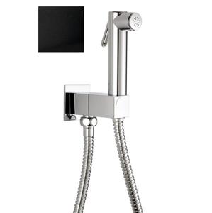 SAPHO - Nástenný ventil s ručnou bidetovou sprškou a bezpečnostnou pojistkou,hranatý,čierna matná (SG108NE)