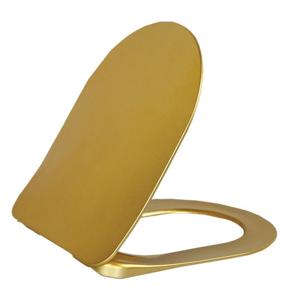 SAPHO - PAULA WC sedátko Soft Close, zlata (KC4080.A0) (KC0903)