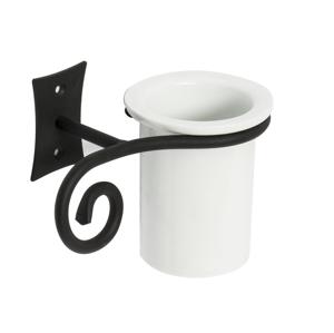 SAPHO - REBECCA pohár keramická, čierna (CC004)