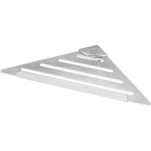 SAPHO - Rohová polica, 178x178 mm, ABS+nerez/chróm (PT004)