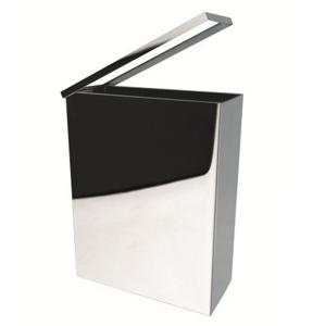SAPHO SAPHO - Hranatý odpadkový koš závesný 25l, leštená nerez (125115041) (XP007)