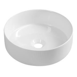 SAPHO SAPHO - INFINITY ROUND keramické umyvadlo na desku, průměr 36x12 cm, bílá (10NF65036)