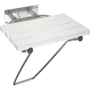 SAPHO - Sklopné sprchové sedátko s opornou nohou, biela (301102181) (XH001)