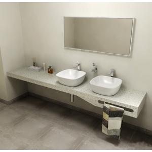 SAPHO - TAILOR+ rockstone deska 230x50 cm, límec L, držák ručníku vpravo (TRP230L)