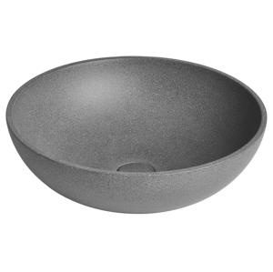 SAPHO - TURF betónové umývadlo vrátane výpusti, priemer 44 cm, čierny granit AR436