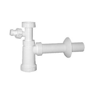 SAPHO - Umývadlový sifón s převlečnou matkou a s odbočkou 5/4', odpad 40mm, plast (CV1010)