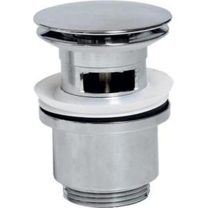 SAPHO - Uzavíratelná kulatá umyvadlová výpust click clack, velká zátka, V 30-50mm, chrom (CV1007)