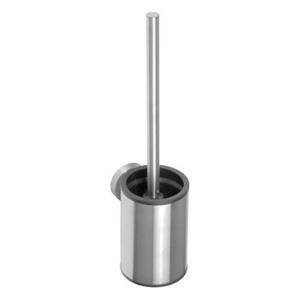 SAPHO - X-STEEL WC kefa, valcová, malá, čierná kefa, brúsená nerez (102313079) (XS305)